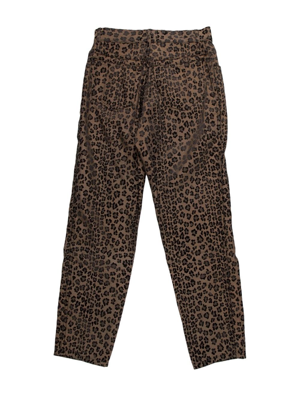 Fendi Animal Print Skinny Leg Pants Brown - image 2