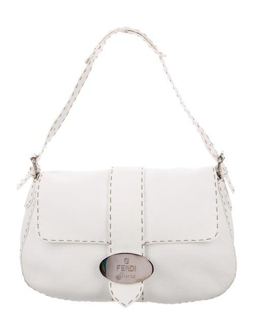 Fendi Selleria Flap Bag White