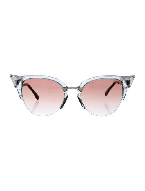 Fendi Fendi Embellished Cat-Eye Sunglasses Clear