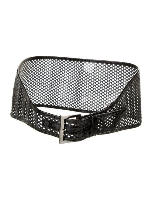 Fendi PVC Perforated Belt Clear