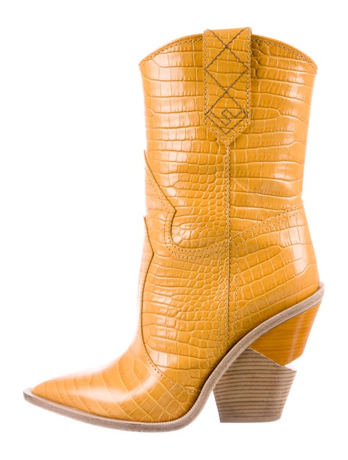 Fendi Embossed Cutwalk Cowboy Boots