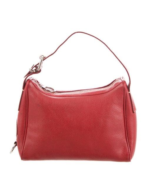 Fendi Leather Handle Bag Red