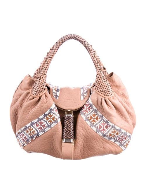 Fendi Beaded Spy Bag Tan