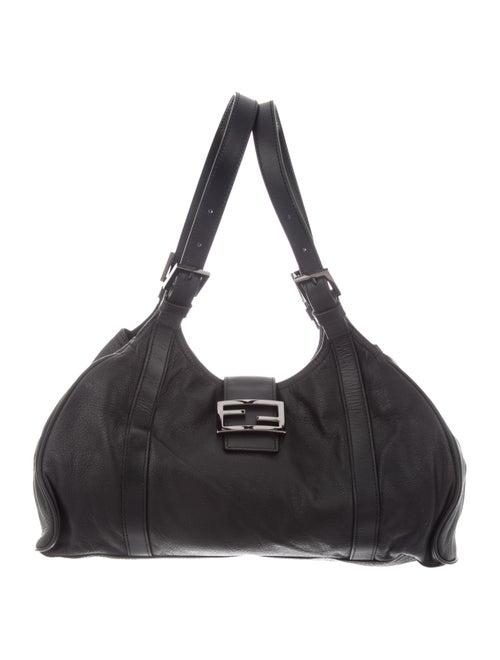Fendi Leather Shoulder Bag Black