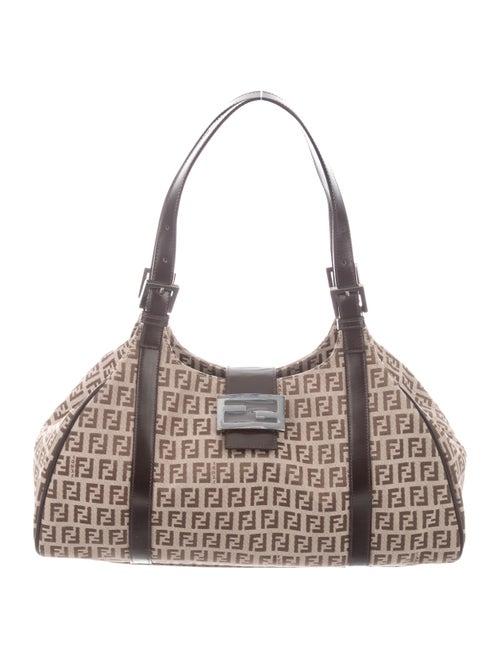 Fendi Zucchino Shoulder Bag brown