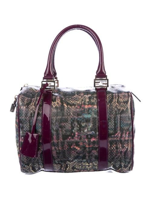 Fendi Bauletto Boston Bag Purple
