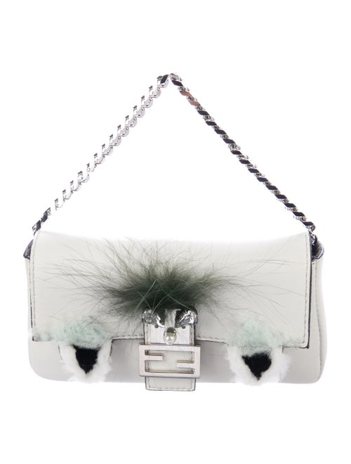 Fendi Bugs Micro Baguette Bag silver
