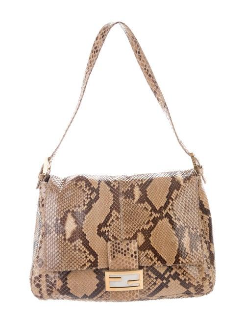 Fendi Python Mama Forever Bag Tan