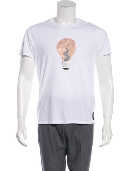 Fendi Studded Lightbulb T-Shirt white