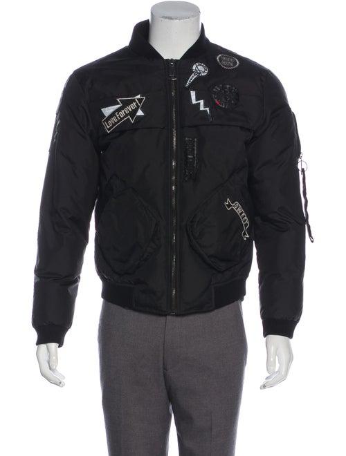 Fendi Patch Applique Bomber Jacket black