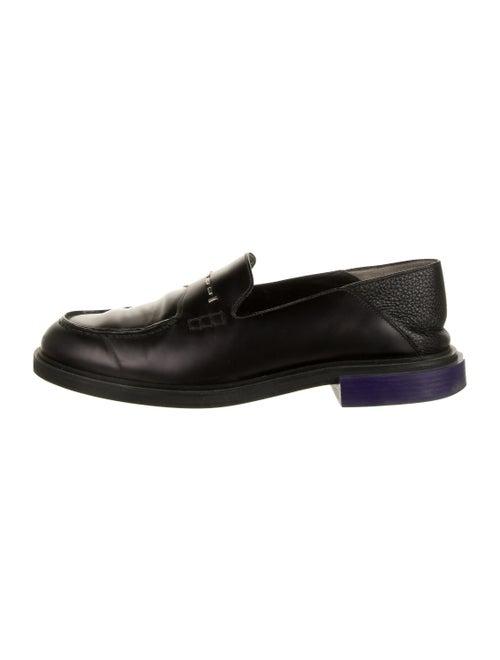 Fendi Leather Smoking Shoes black