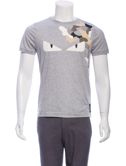 Fendi Leather-Accented Monster T-Shirt w/ Tags gr… - image 1