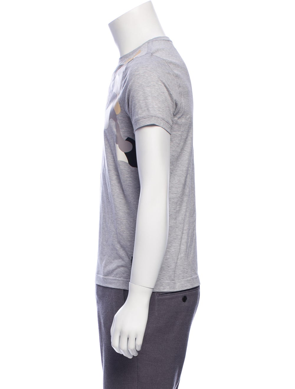 Fendi Leather-Accented Monster T-Shirt w/ Tags gr… - image 2