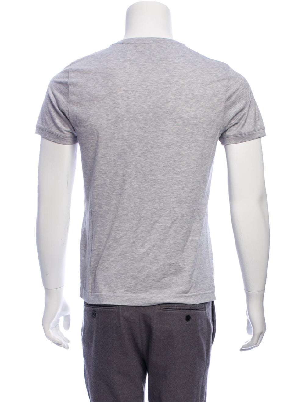 Fendi Leather-Accented Monster T-Shirt w/ Tags gr… - image 3