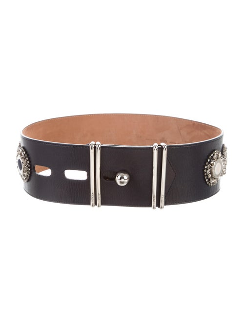 Fendi Embellished Waist Belt Navy