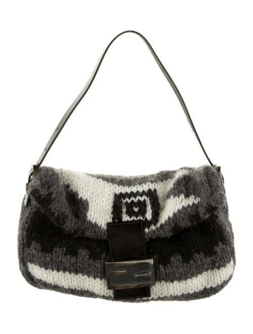 Fendi Knit Wool Baguette Grey