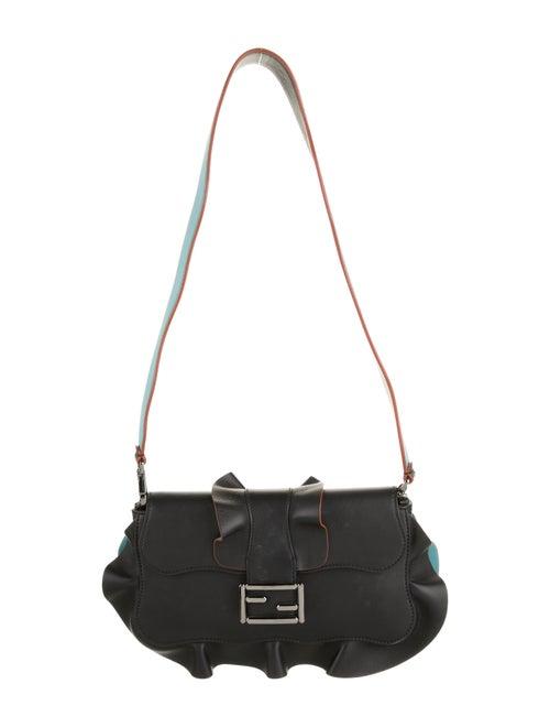 Fendi Wave Leather Baguette Black
