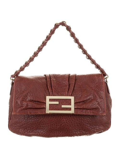 Fendi Mia Leather Baguette Red