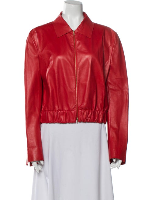 Fendi Leather Jacket Red