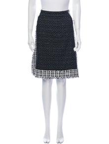 Fendi Fleece Wool Knee-Length Skirt