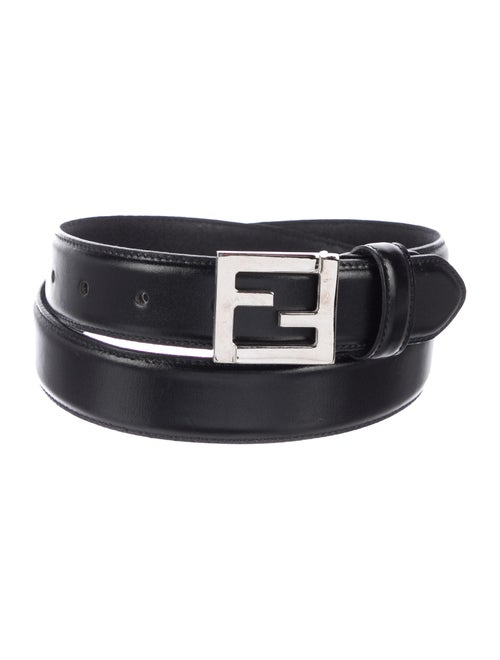 Fendi Logo Leather Belt Black - image 1