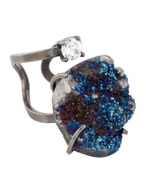 Fendi Druzy & Crystal Ring
