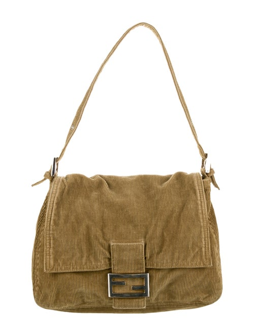 Fendi Corduroy Mama Baguette Bag Green