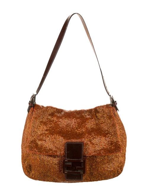 Fendi Leather-Trimmed Beaded Mama Forever Bag Oran