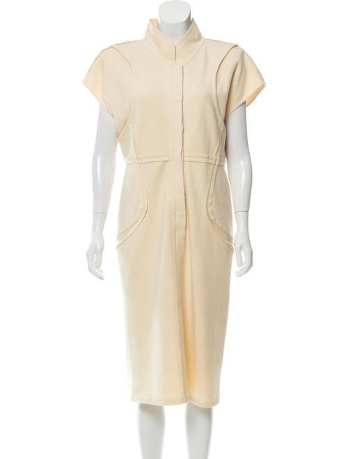 Fendi Wool Midi Dress wool
