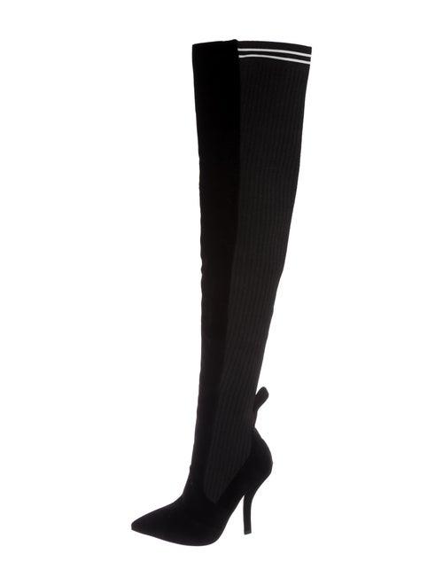 Fendi Rockoko Over-The-Knee Boots Black