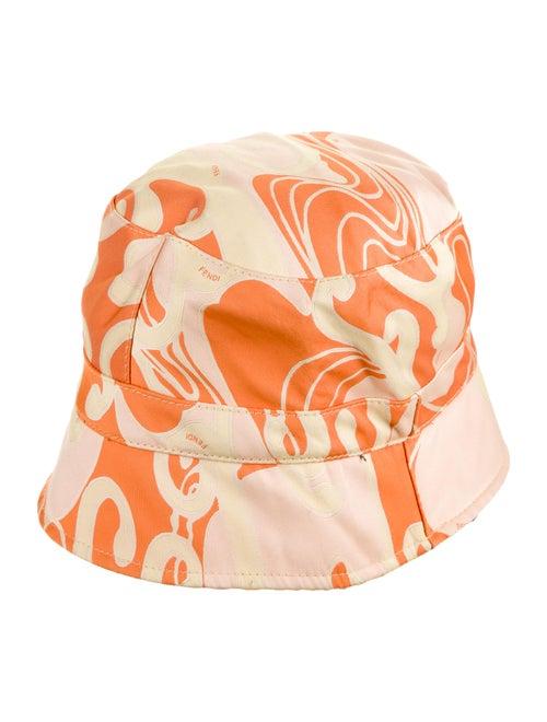 Fendi Printed Bucket Hat Orange