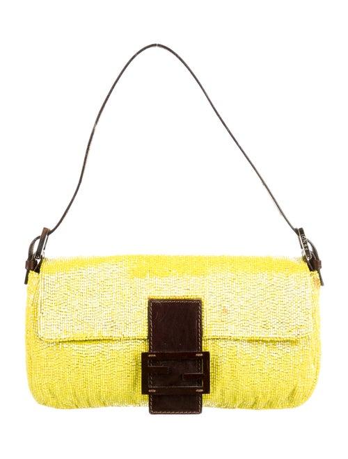 Fendi Beaded Baguette Bag Yellow