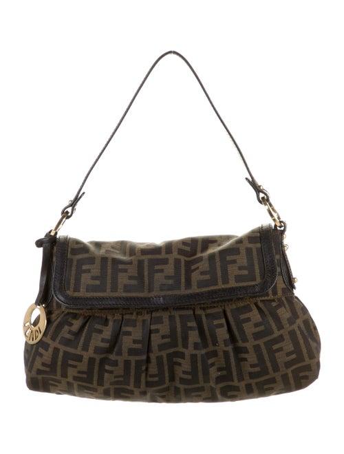 Fendi Traditional Logo Shoulder Bag Green