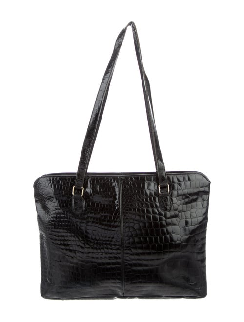 Fendi Vintage Embossed Tote Black