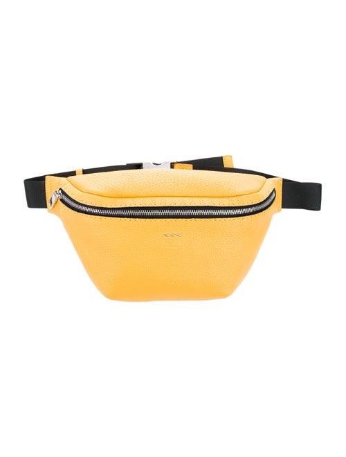 Fendi Selleria Leather Waist Belt Yellow