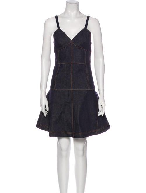 Fendi Bustier Mini Dress Blue