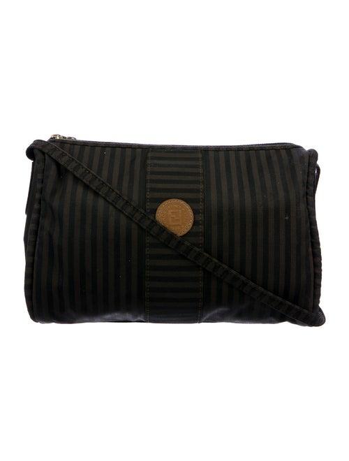 Fendi Vintage Pequin Shoulder Bag Brown