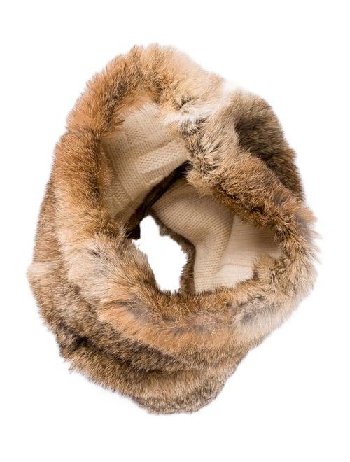 Fendi Rabbit Woven Snood Brown