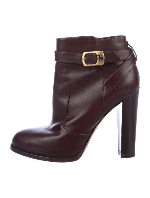 Fendi Leather Boots Brown