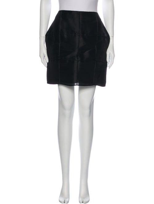 Fendi Silk Mini Skirt Black