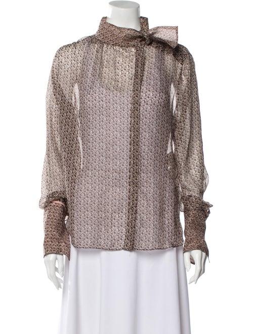 Fendi Silk Printed Blouse