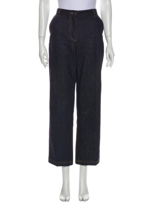 Fendi Wide Leg Pants Blue