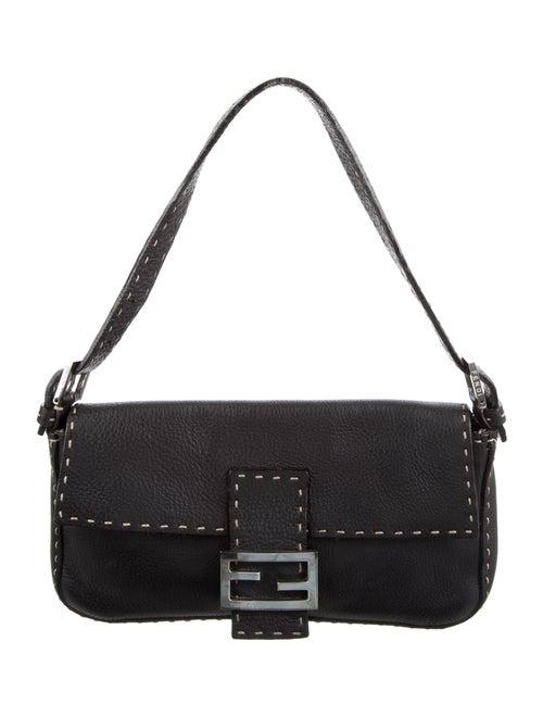 Fendi Selleria Baguette Bag Black