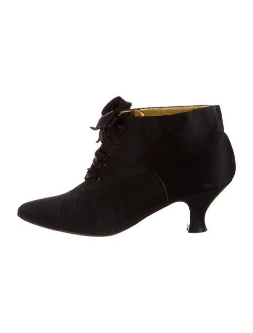 Fendi Lace-Up Boots Black
