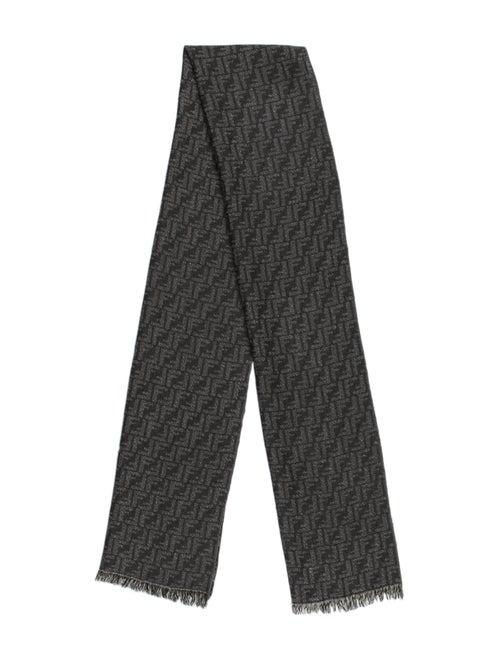 Fendi Zucca Wool Scarf Grey