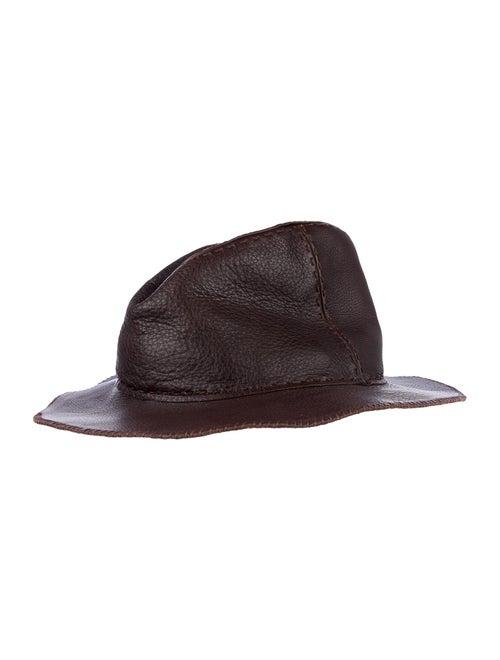 Fendi Leather Hat