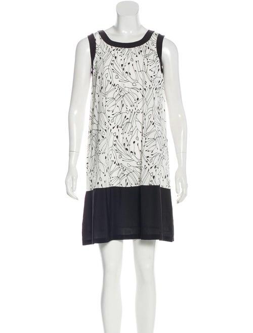 Fendi Sleeveless Printed Dress White