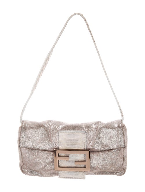 Fendi Mini Metallic Baguette Bag Metallic