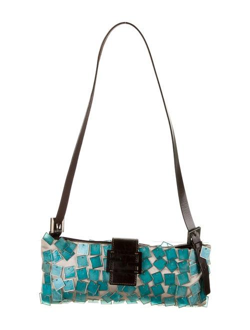 Fendi Embellished Crossbody Bag Grey