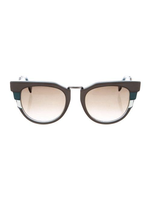 Fendi Gradient Cat-Eye Sunglasses Green